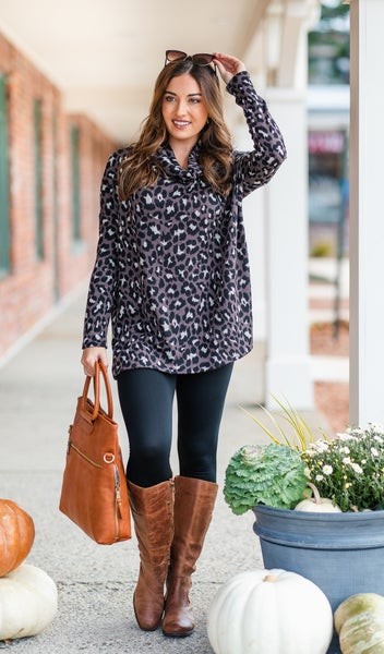 Above The Rest Tunic, Charcoal
