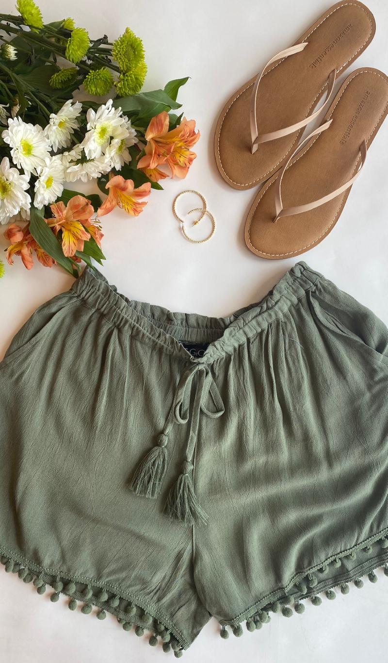 Summer Heat Shorts, Olive