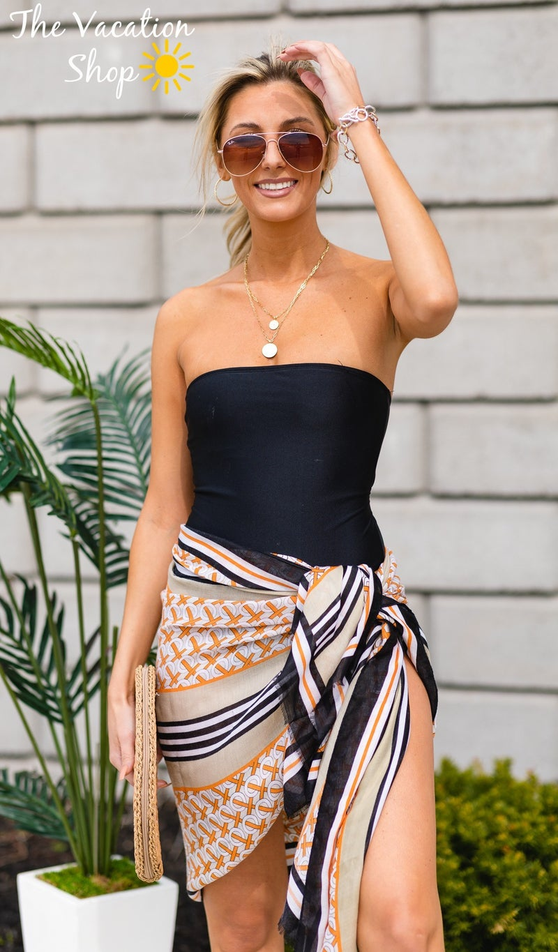 The Beach Scarf/Sarong, Black