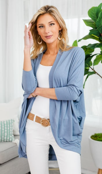 Cool Summer Nights Cardigan, Blue