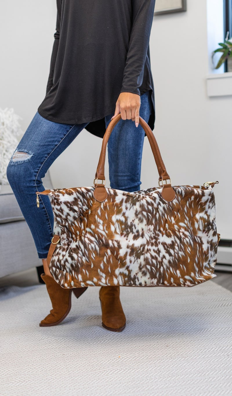 Fall Print Weekender Bag, 1, 2, Or 3