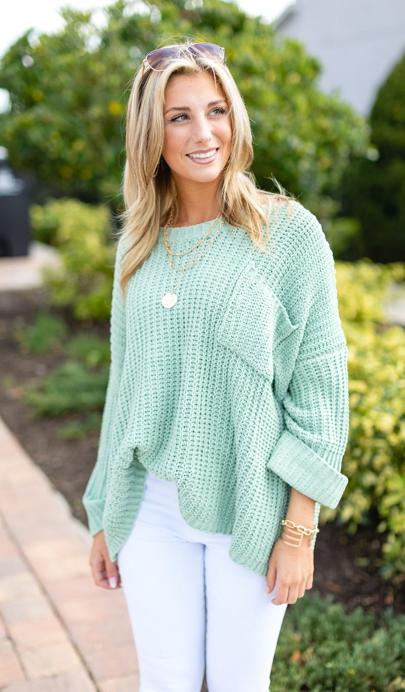 The Spencer Sweater, Moss