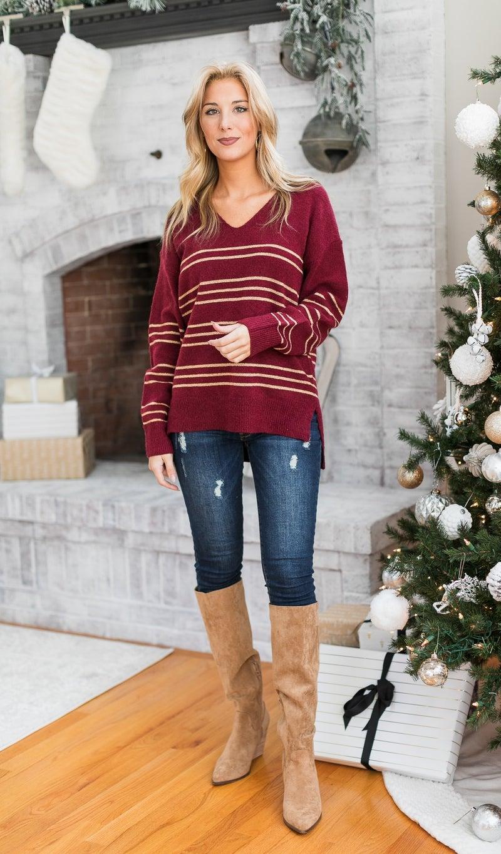 The Lola Sweater, Burgundy