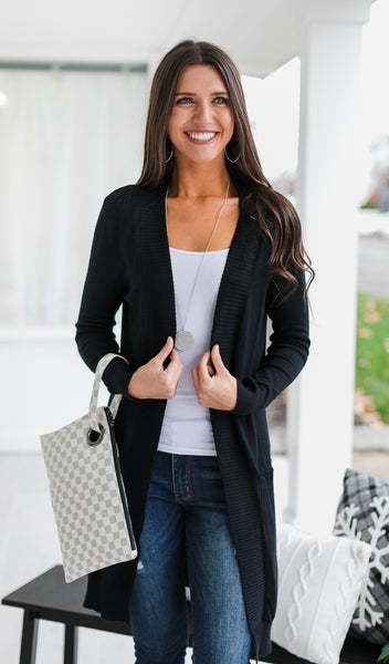 Whisper Cardigan, Black