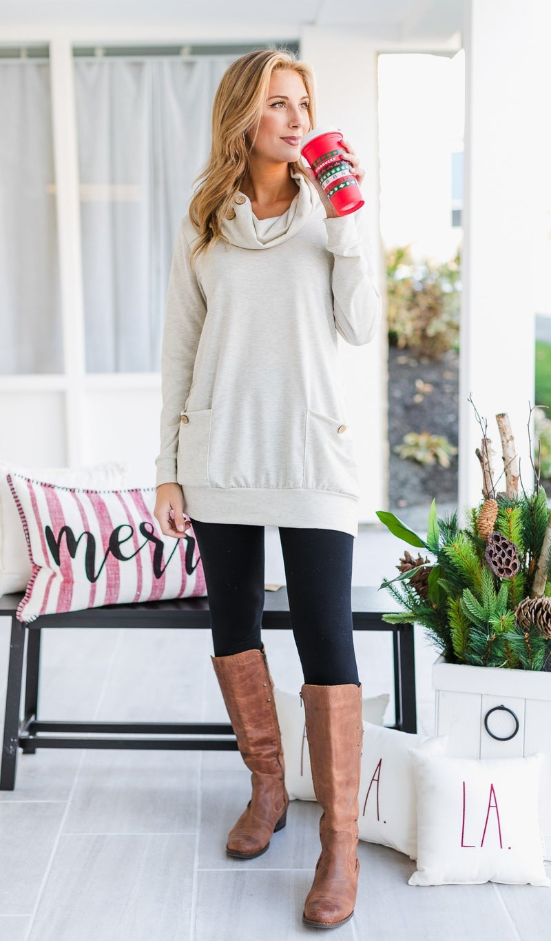 Love Letter Tunic, Navy or Oatmeal