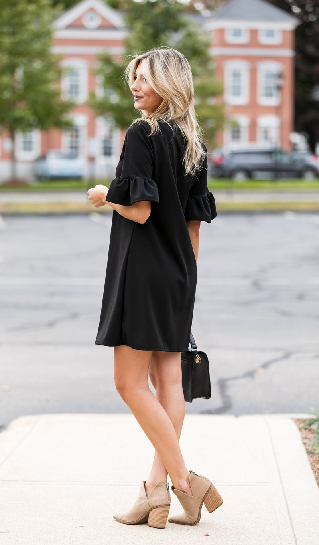 Never Been Done Dress, Black