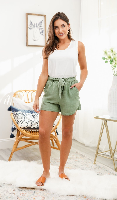 Ode To Summer Shorts, Sage