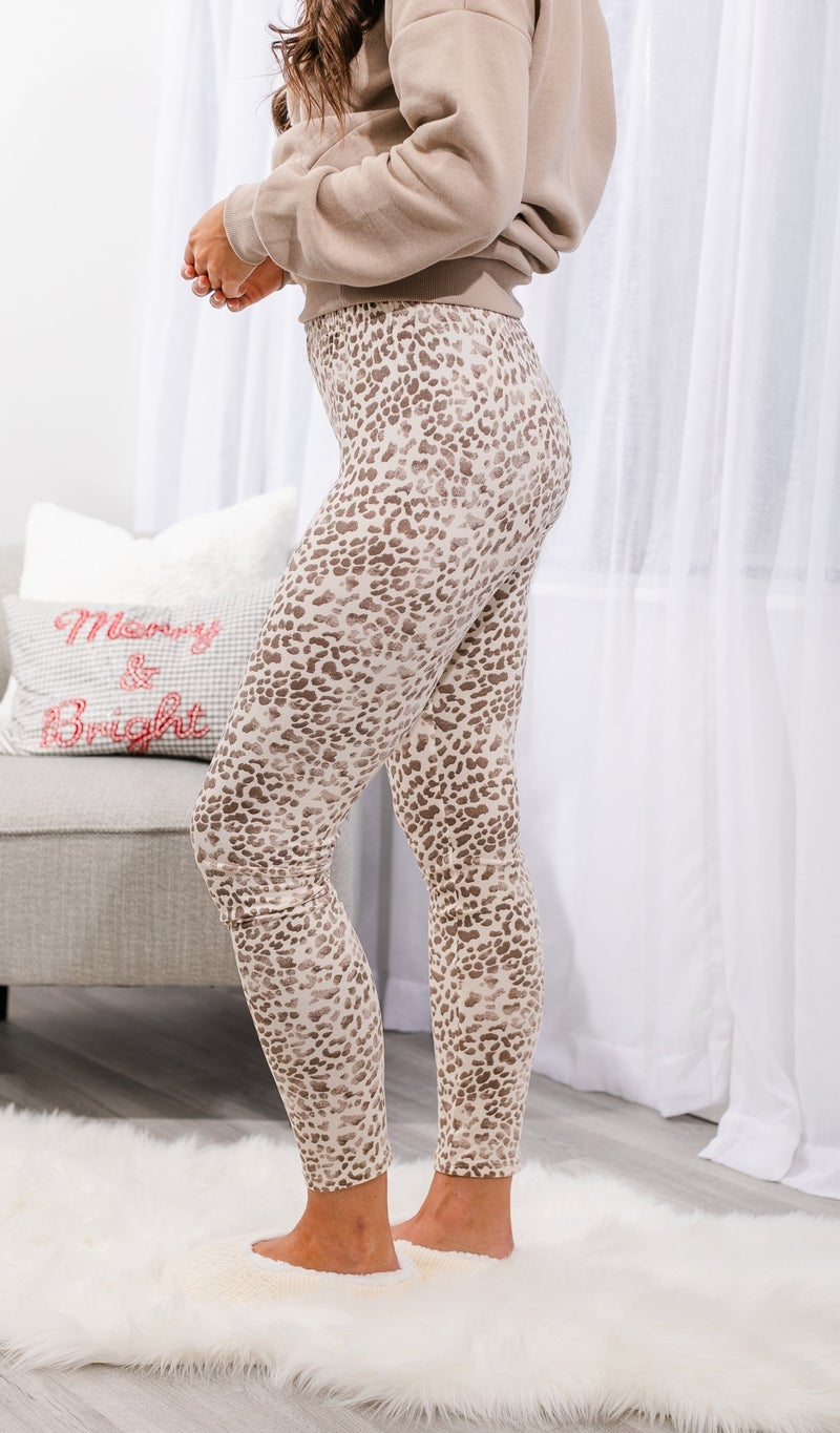 Lovely Loungewear Leggings, Grey or Taupe