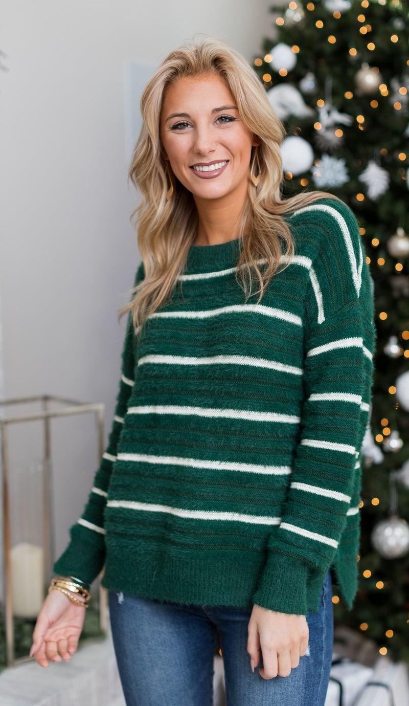MARKDOWN! The Erica Sweater, Hunter Green *Final Sale*