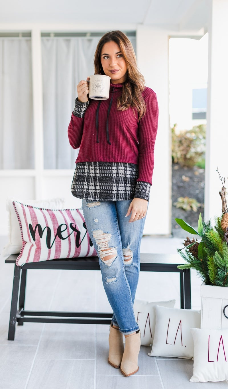 In Warmth Top, Burgundy Or Black
