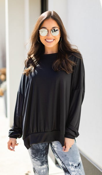 You Name It Top/Tunic, Black
