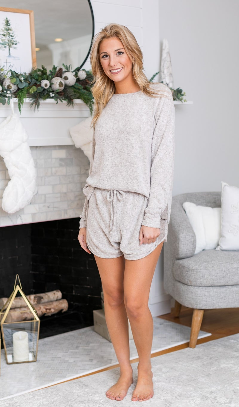Love Like This Shorts, Burgundy, Taupe or Grey *Final Sale*