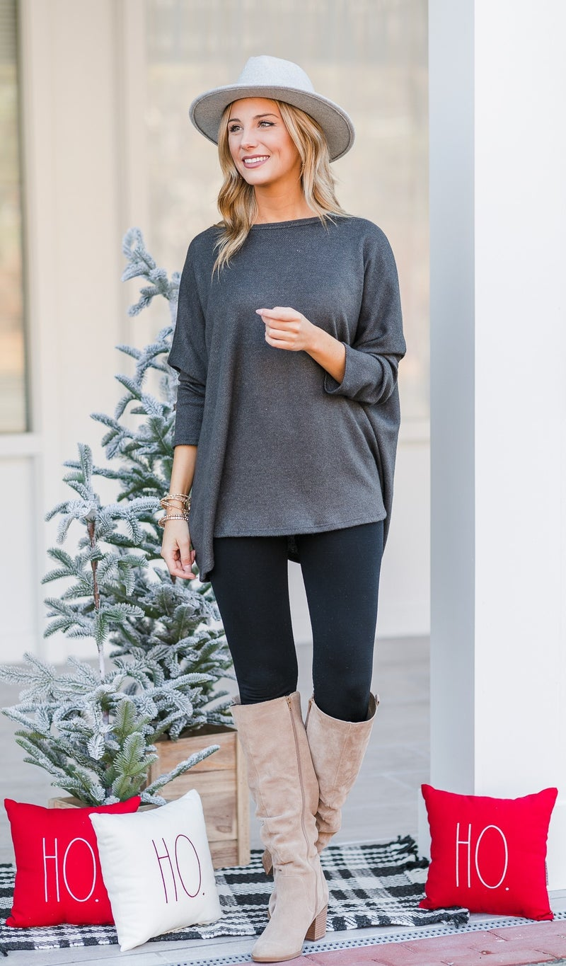All Day Comfort Tunic, Grey