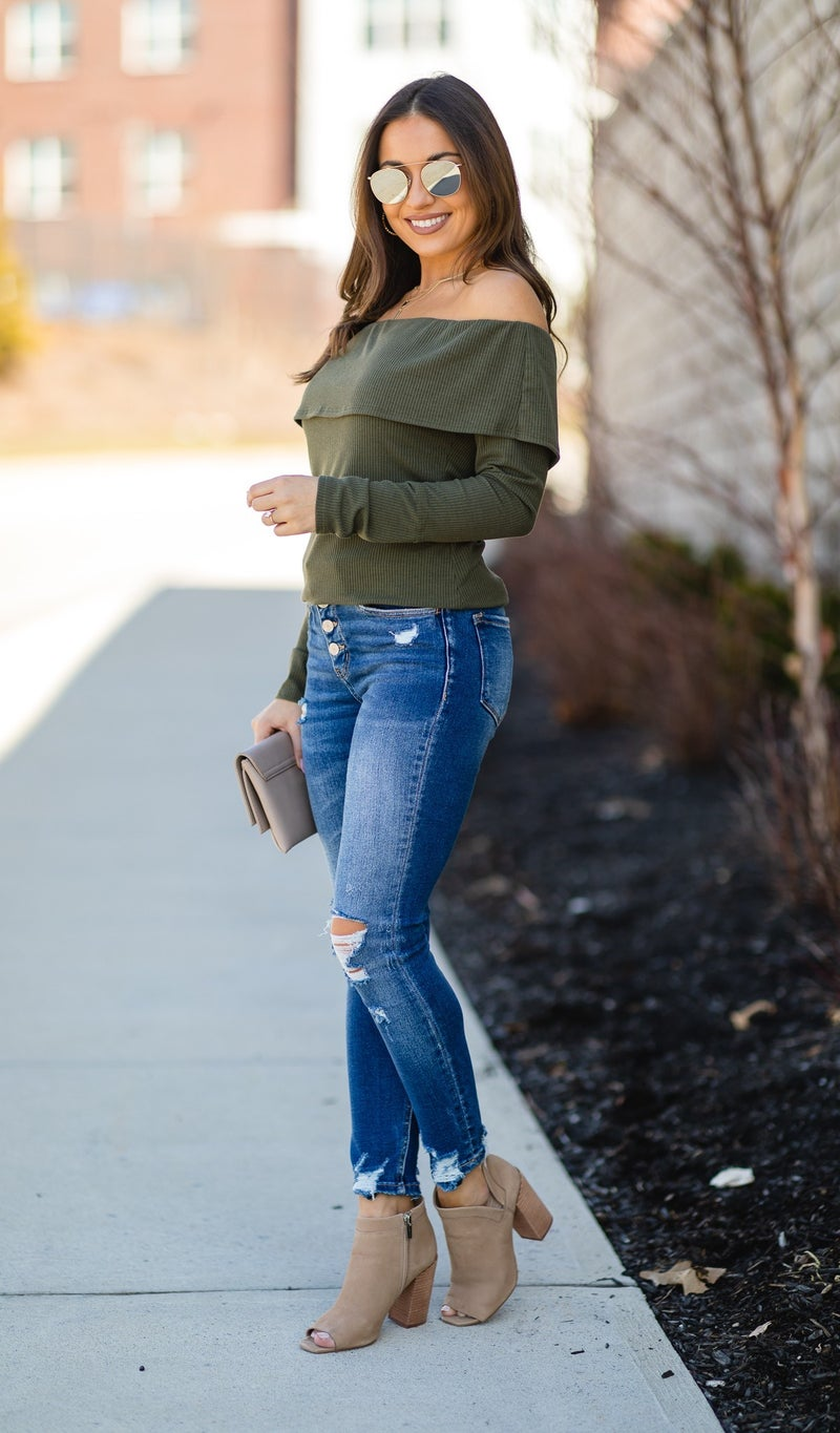 The Lucia Top, Olive