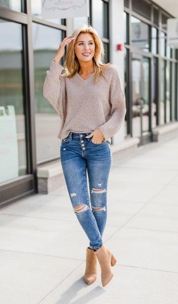 The Norah Sweater, Mocha