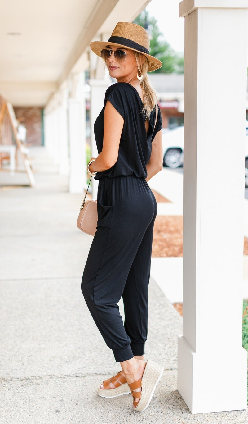 Next Level Jumpsuit, Black