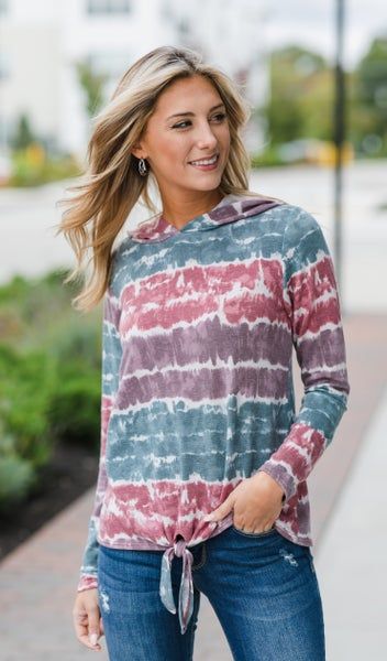 That Easy Pullover, Teal Tie Dye