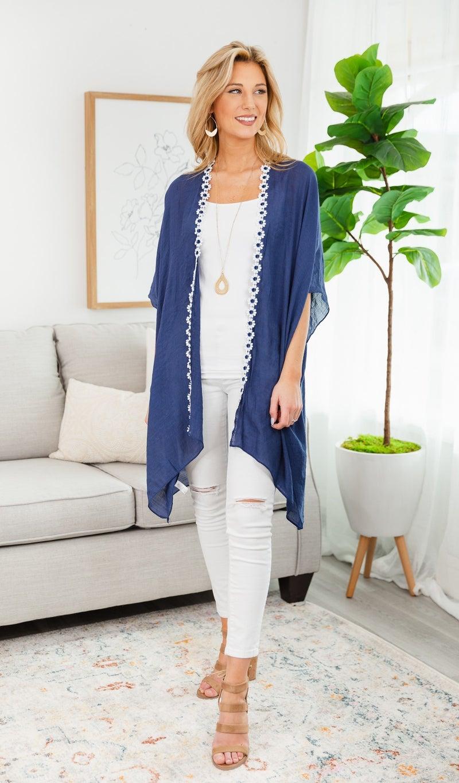 Daisy Dot  Kimono, Blue