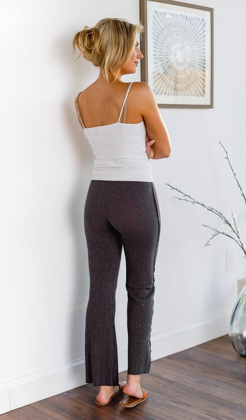 The Carol Knit Pant, Charcoal