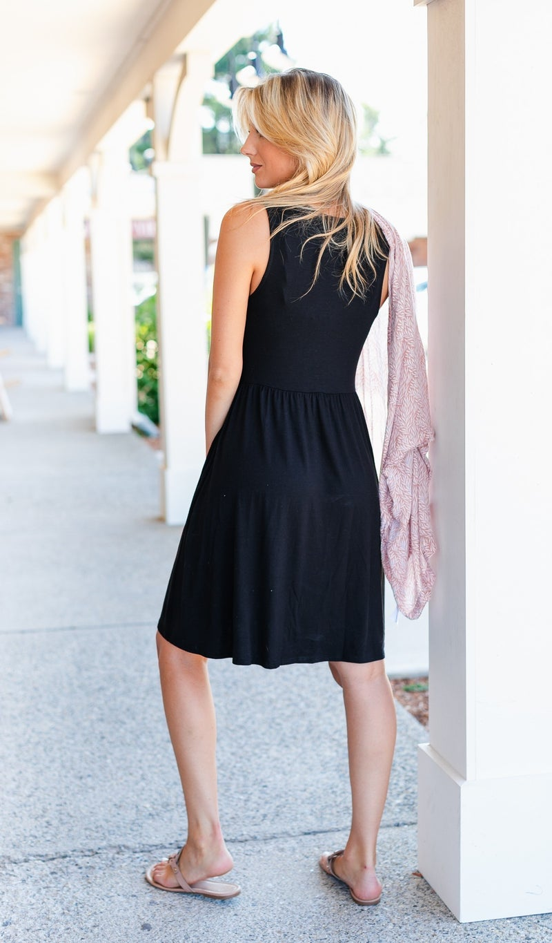 Sun Drenched Dress, Black