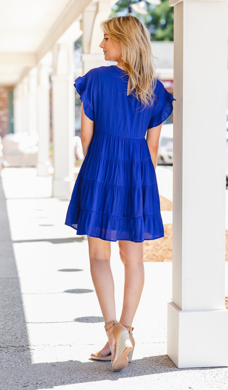 By The Shore Swing Dress, Royal