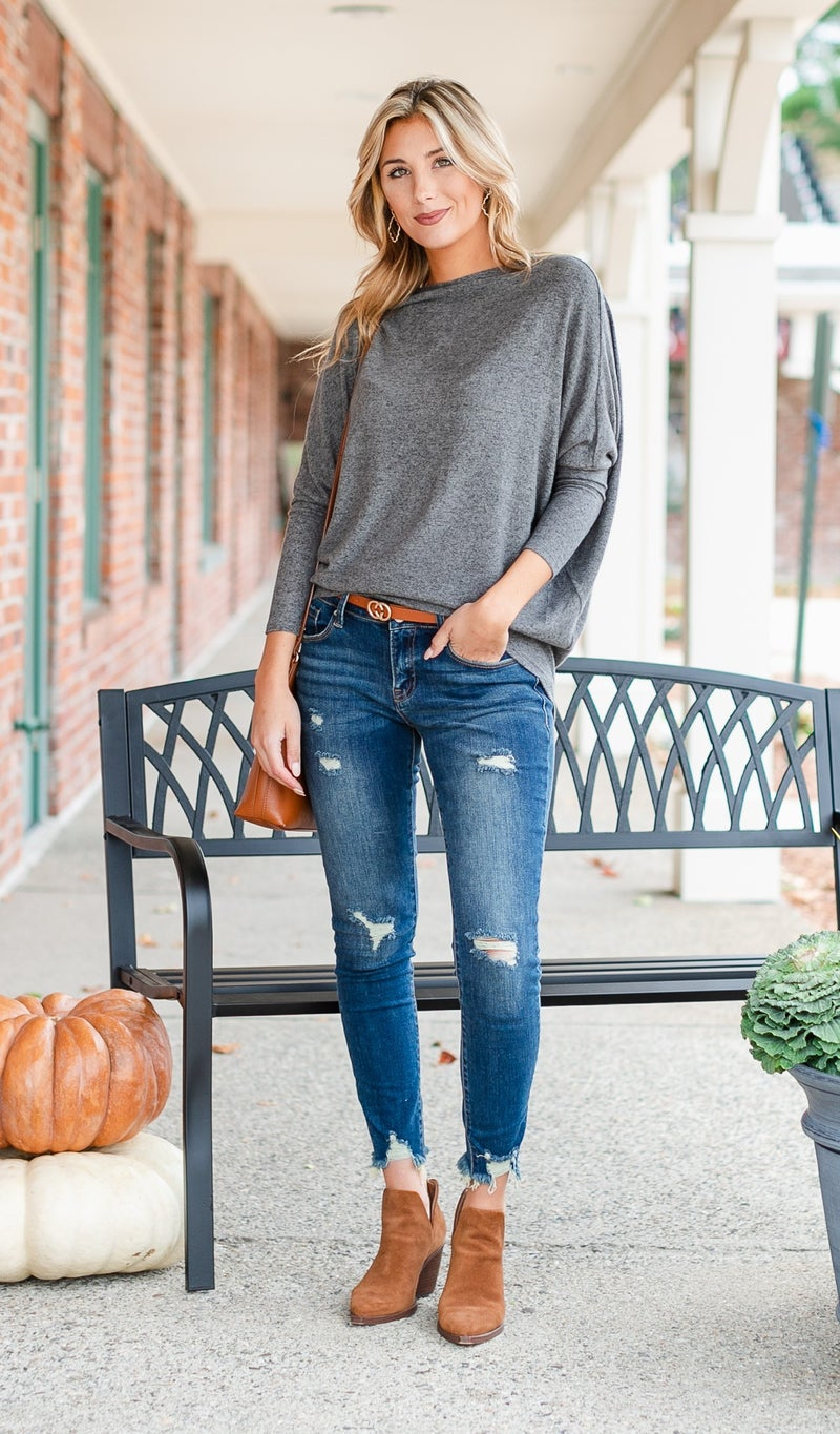 The Shannon Top, Charcoal