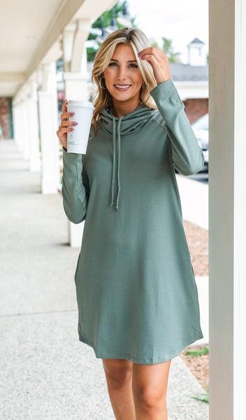 The Sasha Sweater Dress, Sage