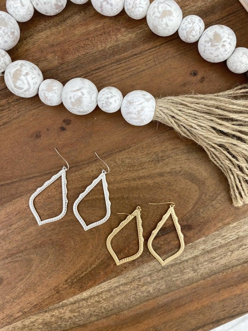 Boho Teardrop Earring , Silver or Gold