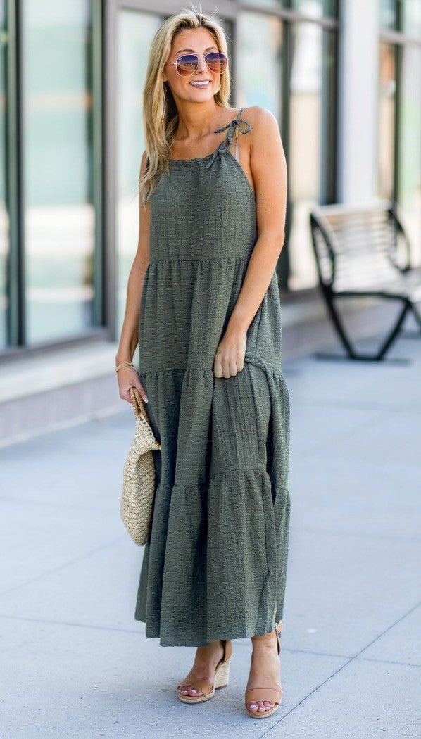 Dreaming Of The Day Dress, Olive