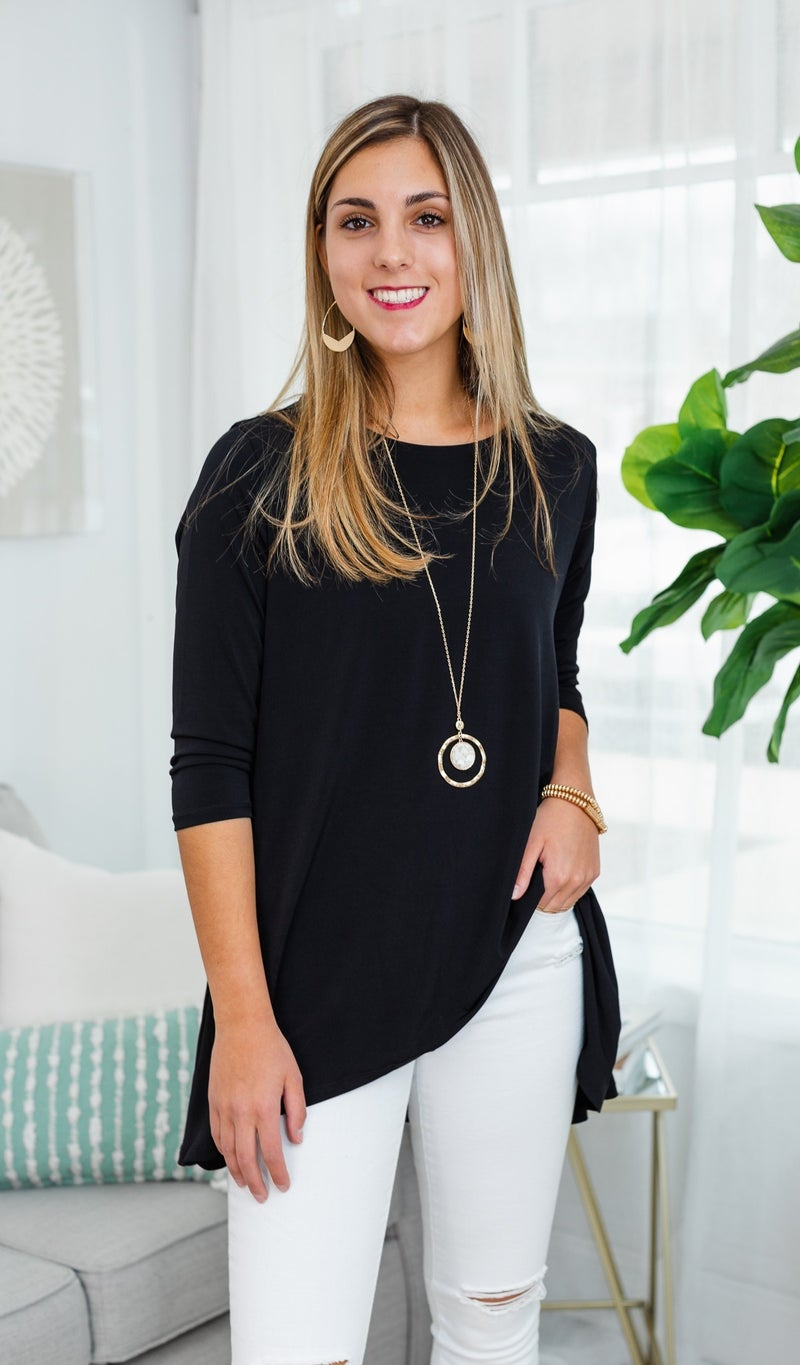 A Second Look Tunic, Black