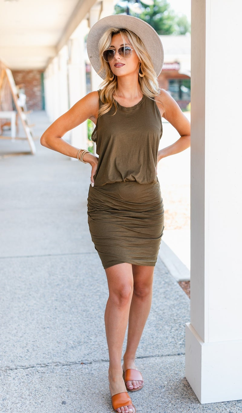 Much Love Dress, Olive