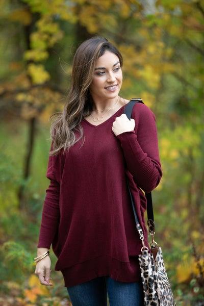 Ready To Go Sweater, Plum