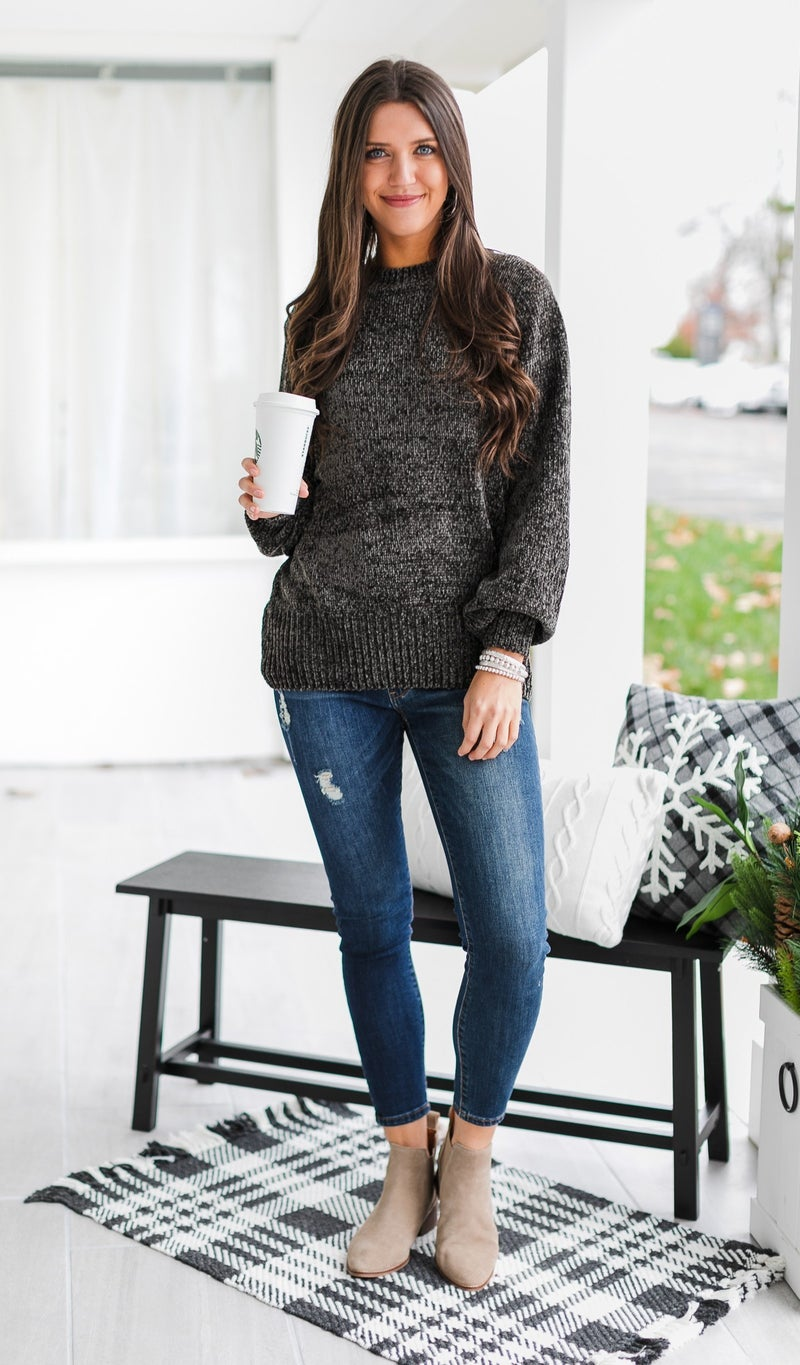 Cozy All Day Sweater, Charcoal