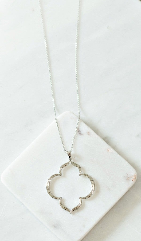 Back To Back Necklace, Silver or Gold