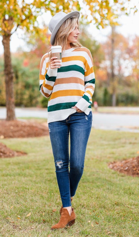 On Display Stripe Sweater, Multi