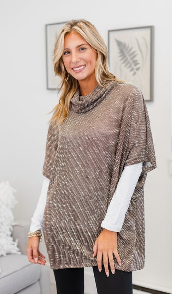 Stay A While Tunic, Mocha or Wine