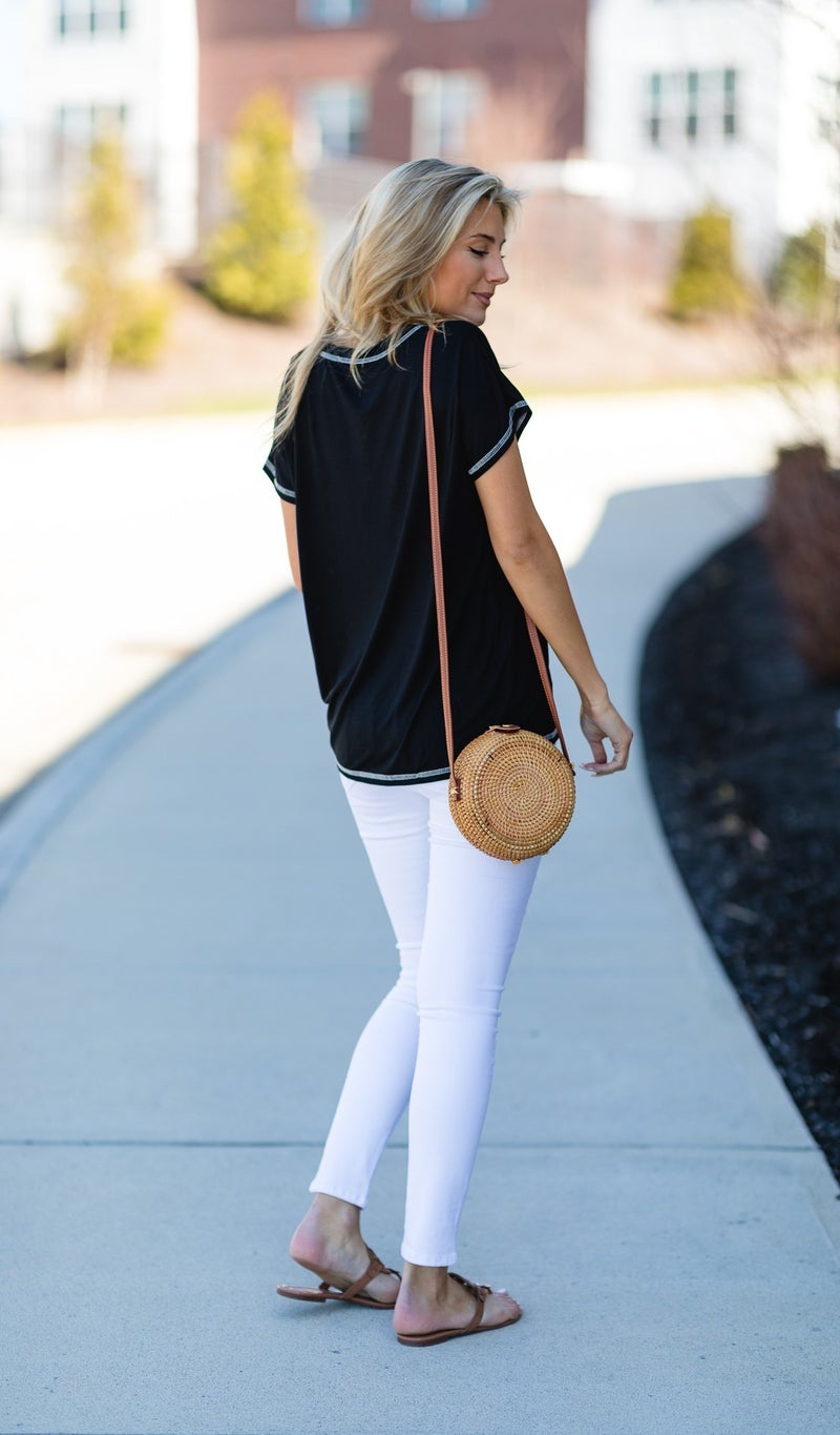 The Osterville Straw Bag