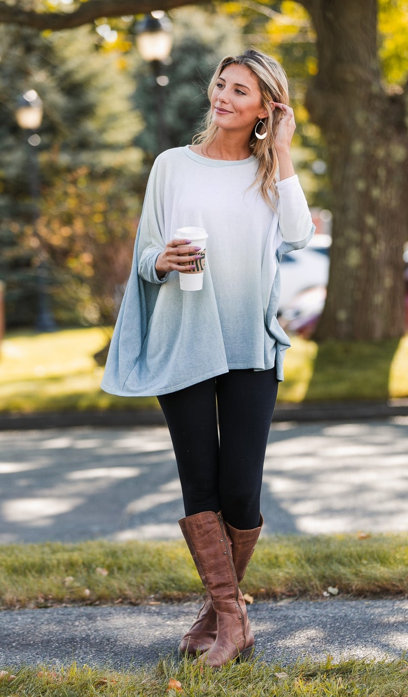 Just For You Tunic, Gradient Olive