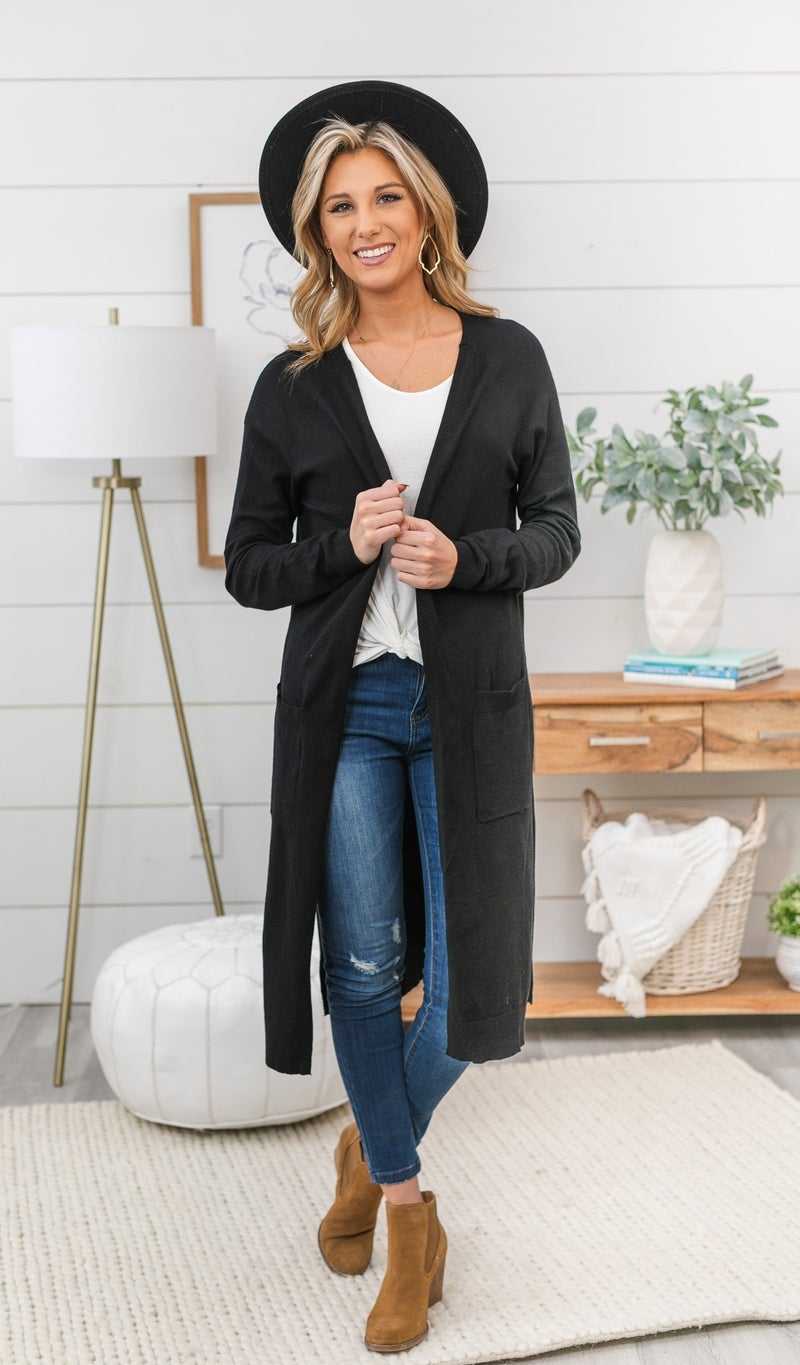 Daytime Delight Cardigan-Black, Mint, Or Oatmeal