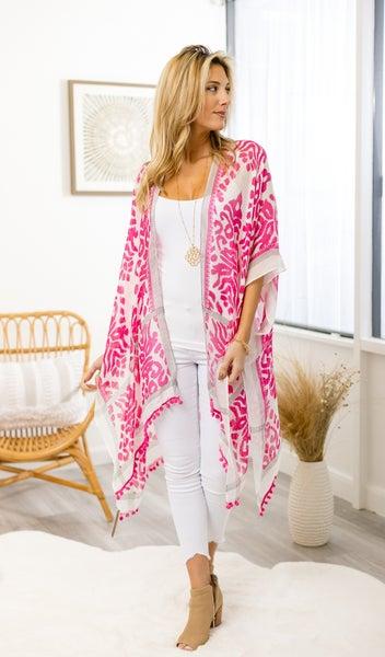 All Day Chic Kimono, Pink