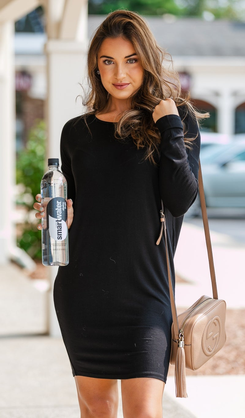 Go With The Flow Dress, Black or Charcoal