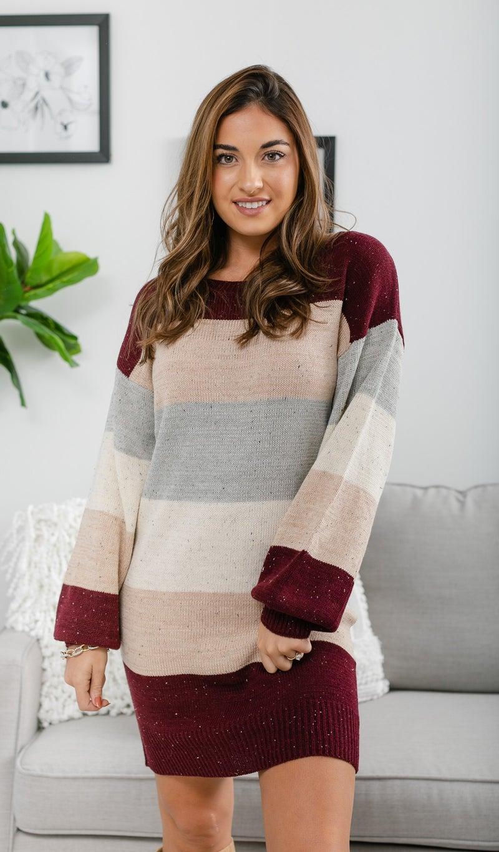 Harvest Wishes Dress, Multi Stripe