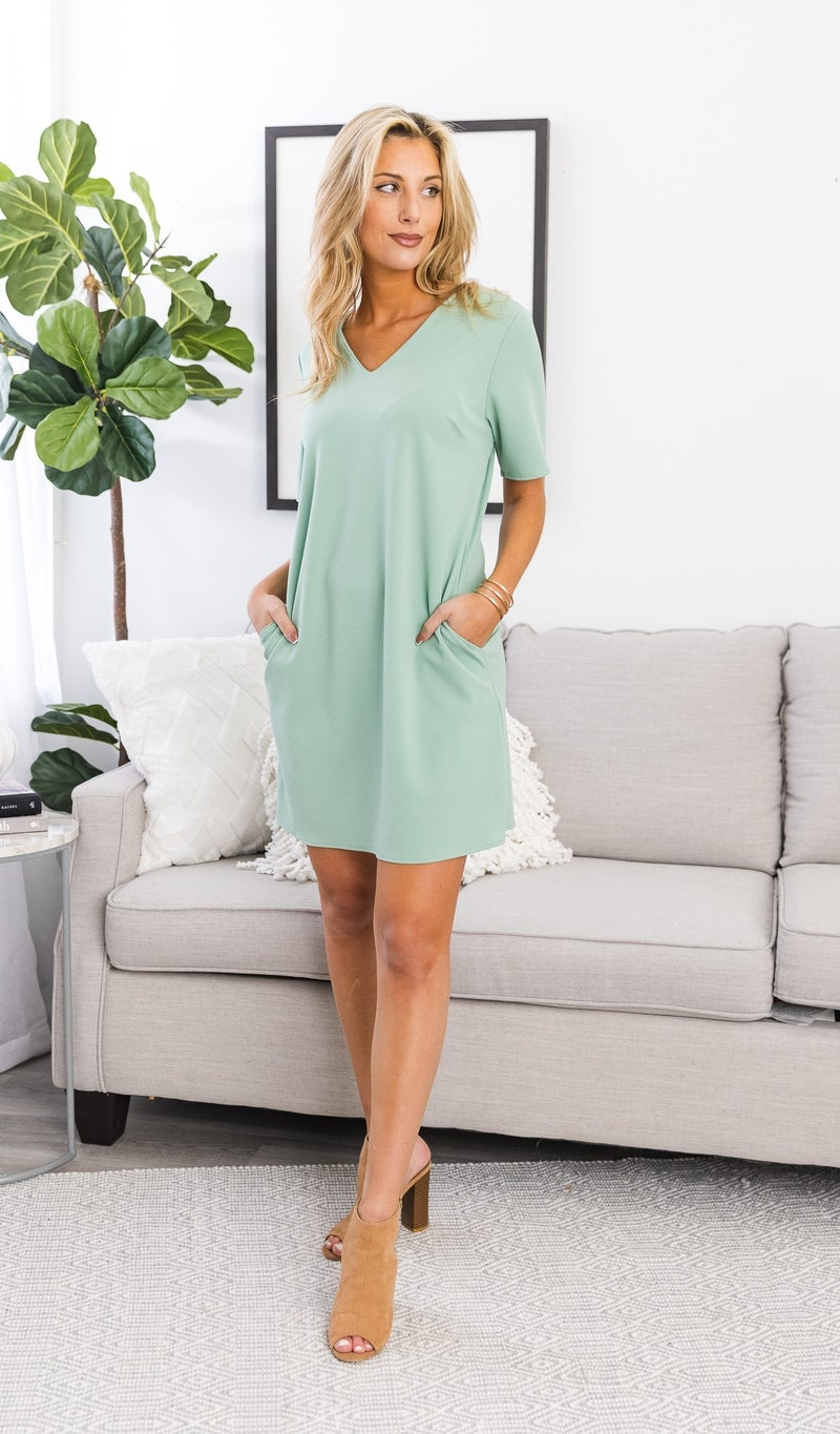 The Everly Dress, Mint