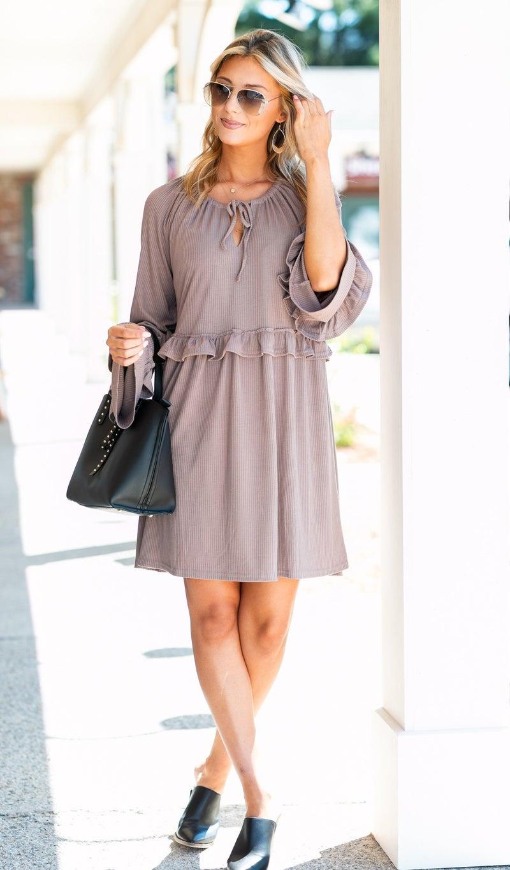 The Calla Dress, Taupe