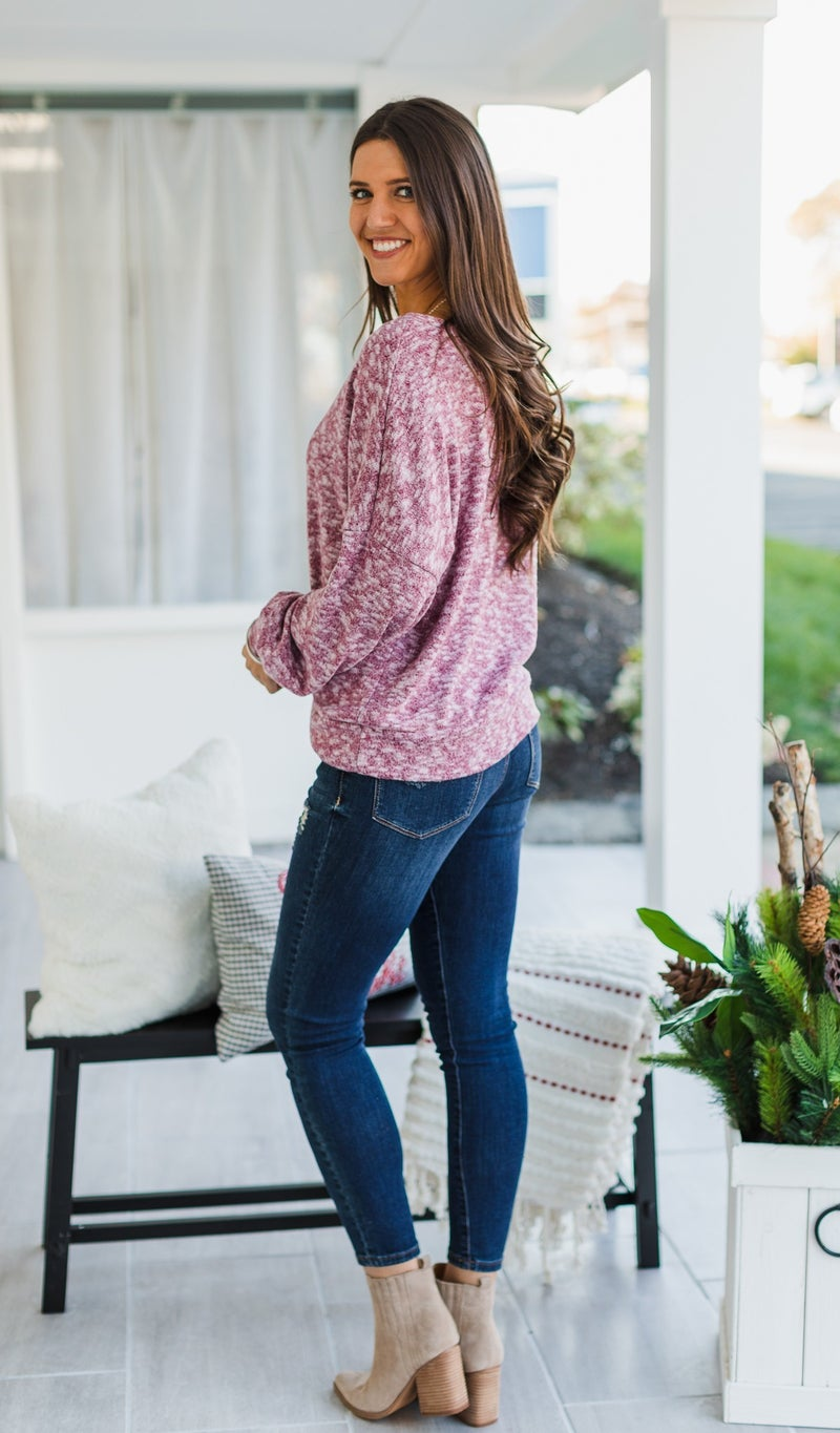 Free Fall Top, Berry