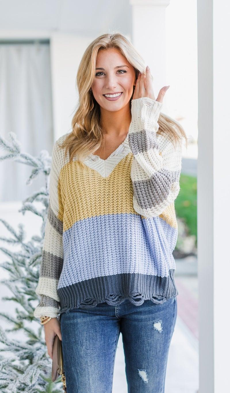 The Sienna Sweater, Yellow