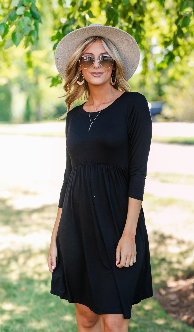 The Jackie Dress, Black