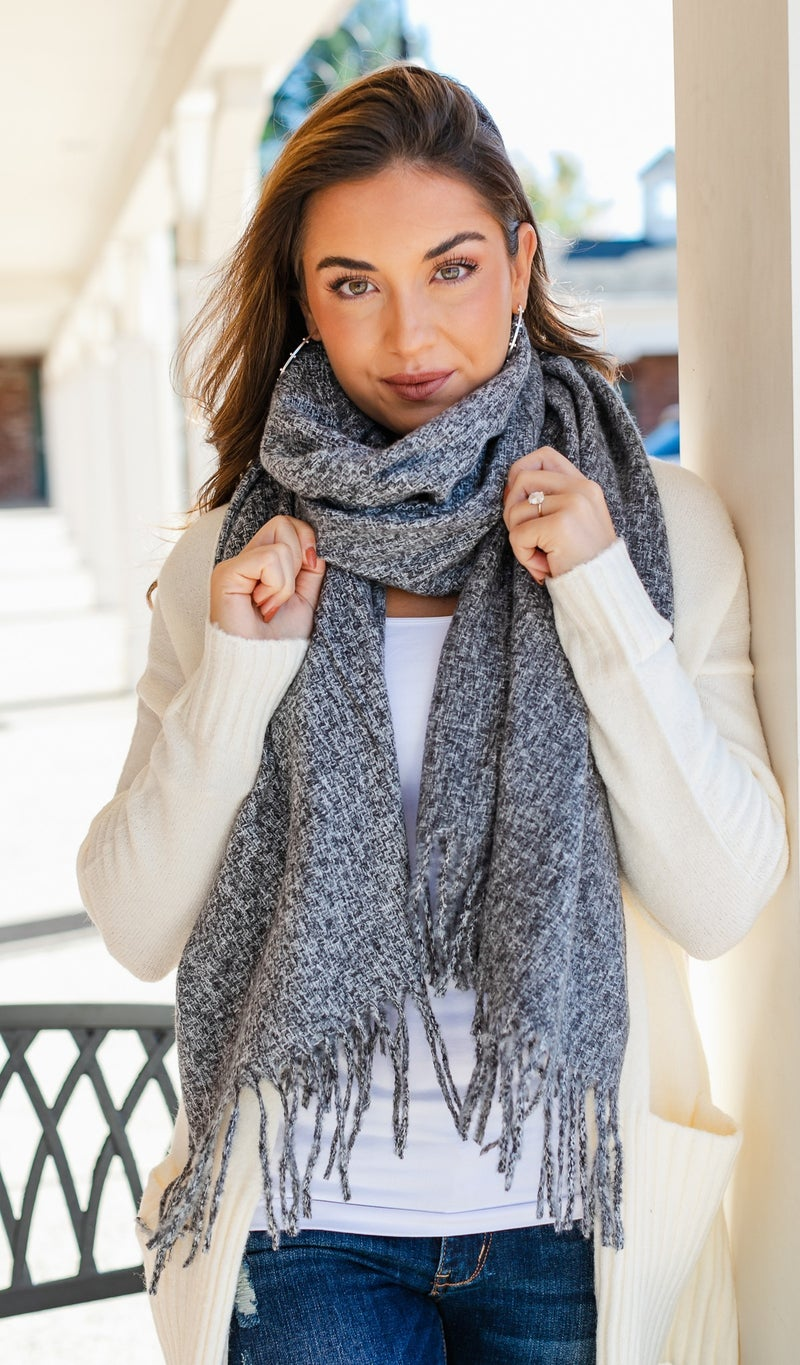 The Daphne Scarf, Grey or Pink