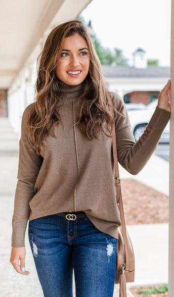 Cozy Days Sweater, Mocha or Teal