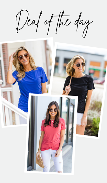Timeless Staple Top, Coral, Black or Royal